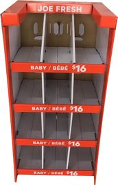Stand Up Exhibition Cardboard Display Stands For Children Babysuit Packing